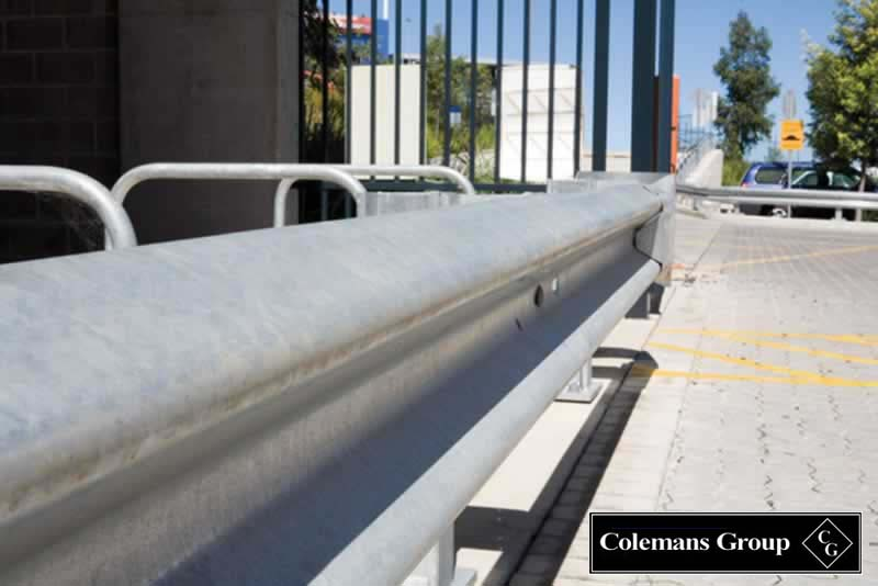 Guard rail fencing road fencing supplied by colemans ...