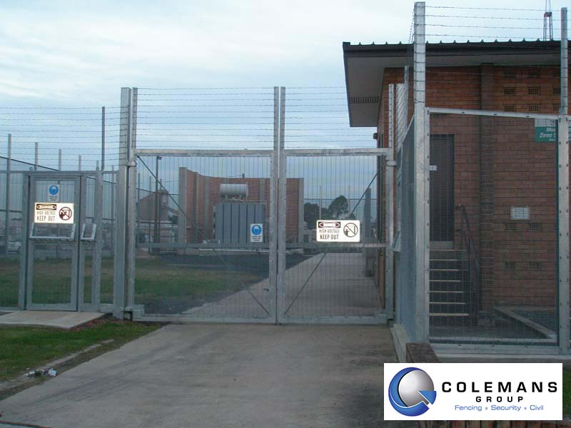 Barbed wire fencing colemans