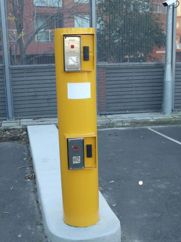 Heavy Duty Bollard with Access Control