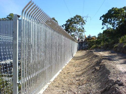 Bent Top Palisade Fencing