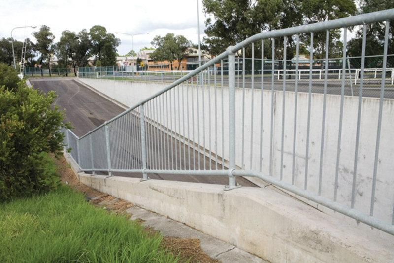 Sloping Pedestrian Fencing